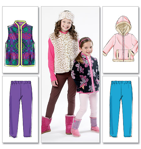 McCall's Children's/Girls' Lined Vest, Headband, Unlined Vest and Jackets, and Leggings 6430