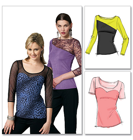 McCall's Misses' Tops 6435