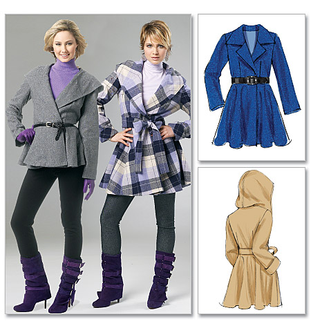 McCall's Misses' Lined Coats and Belt 6442