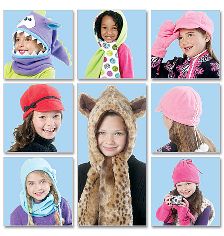 McCall's Children's/Girls' Hats, Cowl and Mittens 6448