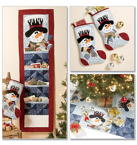 McCall's Stocking, Runner, Tree Skirt and Card Holder 6454
