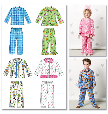 McCall's Toddlers'/Children's Tops and Pants 6458