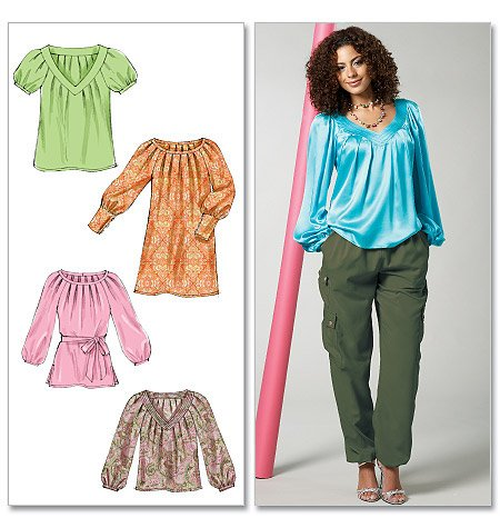 McCall's Misses' Tops, Tunic, Belt and Dress 6470