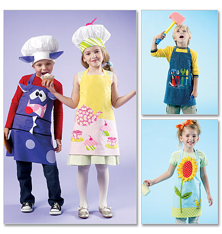 McCall's Kids' Aprons and Hats 6476