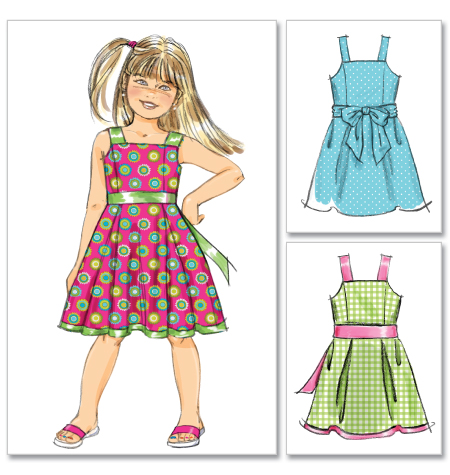 McCall's Children's/Girls' Lined Dresses 6486