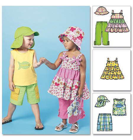 McCall's Toddlers'/Children's Tops, Shorts, Pants and Hats 6495