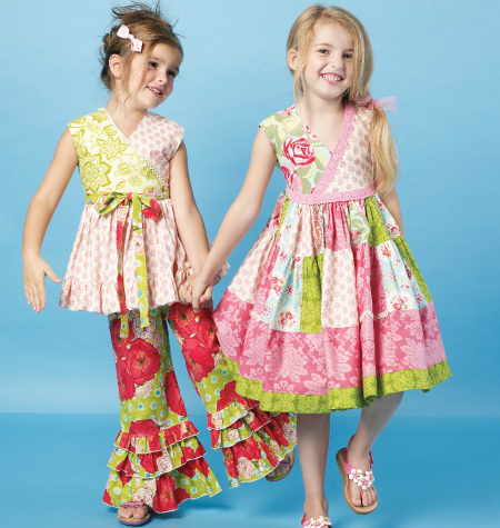 McCall's Children's/Girls' Top, Dress and Pants 6497