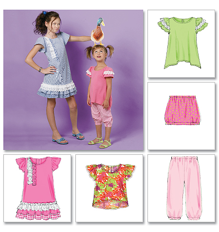 McCall's Children's/Girls' Tops, Dress, Skirt and Pants 6498