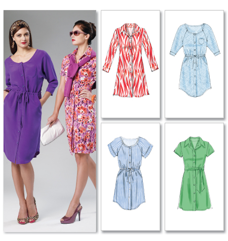 McCall's Misses'/Women's Dresses and Belt 6520