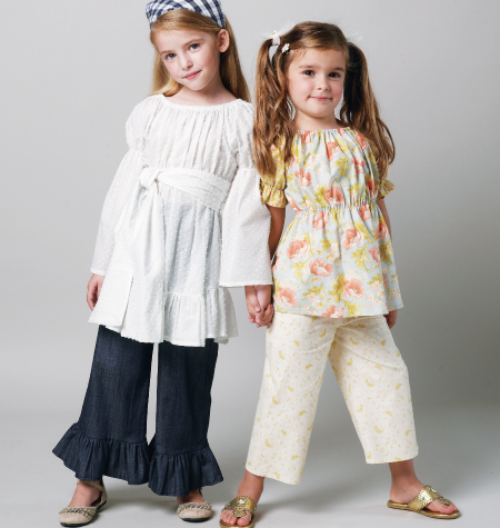 McCall's Children's/Girls' Top, Tunic, Belt, Pants In 2 Lengths and Kerchief 6530