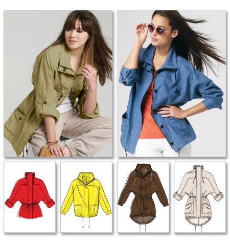 McCall's Misses' Unlined Jackets and Belt 6531