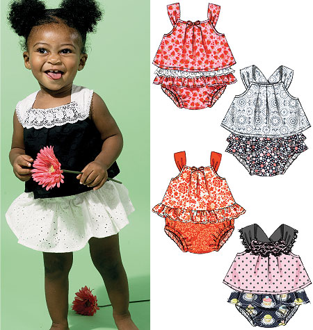 McCall's Infants' Tops and Panties 6538