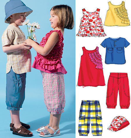 McCall's Toddlers'/Children's Tops, Dress, Shorts and Hat 6540