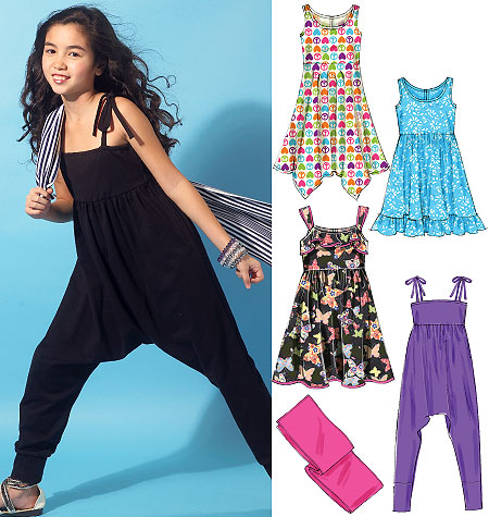 McCall's Girls'/Girls' Plus Dresses, Jumpsuit and Wrap 6550