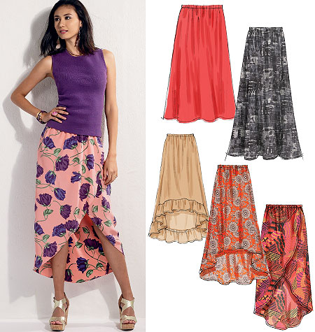 McCall's Misses skirts 6567
