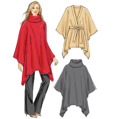 McCall's Misses' Ponchos 6586