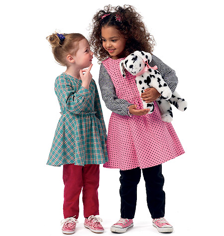 McCall's Children's/Girls' Top, Dress Or Jumper and Pants 6595