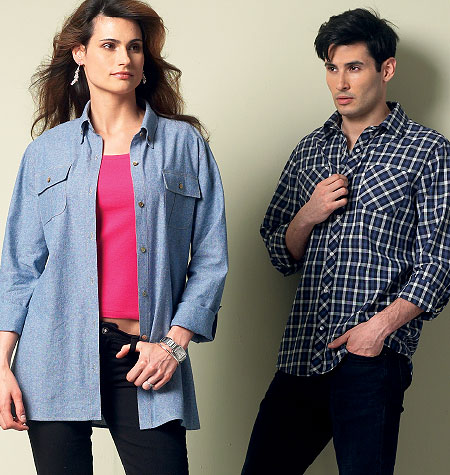 McCall's Misses'/Men's Shirts 6613