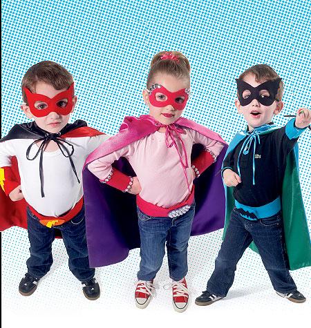 McCall's Children/Boys'/Girls' Cape, Belt, Cuffs and Masks 6626