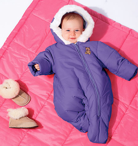 McCall's Infants' Snowsuit, Bunting and Blanket 6635
