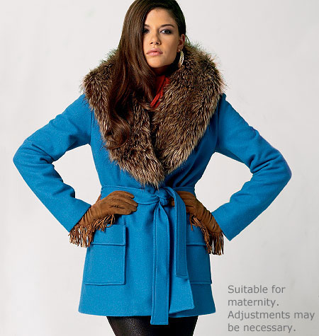McCall's Misses' Unlined and Lined Jackets, Coats and Belt 6657