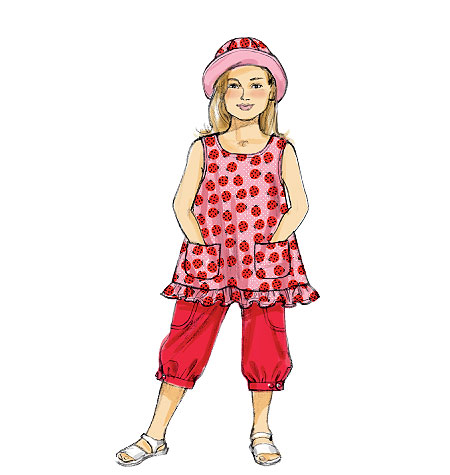 McCall's Toddlers'/Children's Top, Pants and Hat 6675