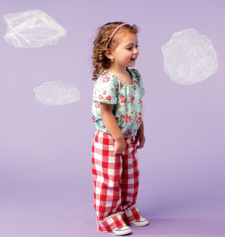 McCall's Toddlers' Top, Dresses, Romper, Panties and Pants 6684