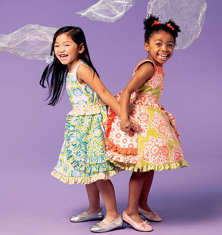 McCall's Girls' Dresses, Belt and Petticoat 6686