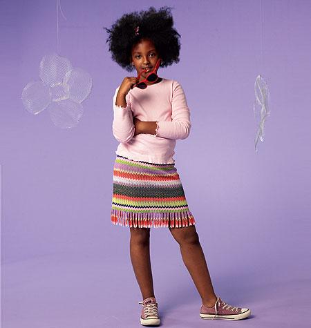McCall's Girls'/Girls' Plus Top, Dresses, Skirt and Leggings 6693
