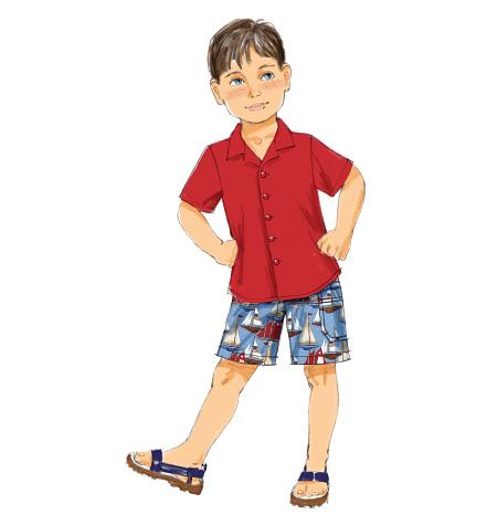 McCall's Children's Shirt and Shorts 6723