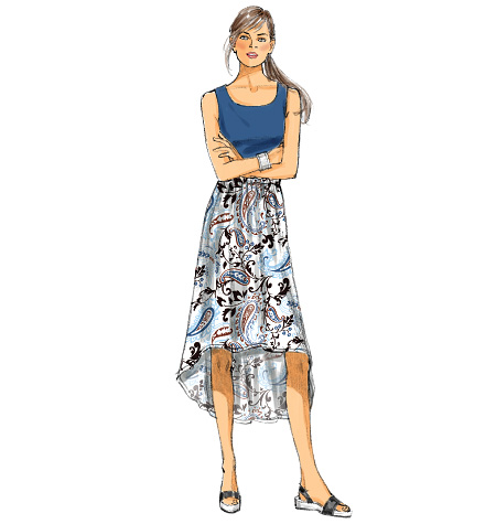 McCall's Misses' Skirts 6725