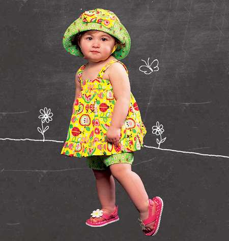 McCall's Infants' Reversible Tops and Dresses; Shorts and Hat 6727