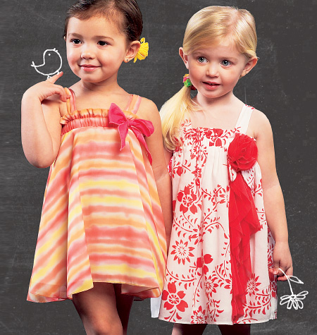 McCall's Toddlers' Lined Dresses 6728