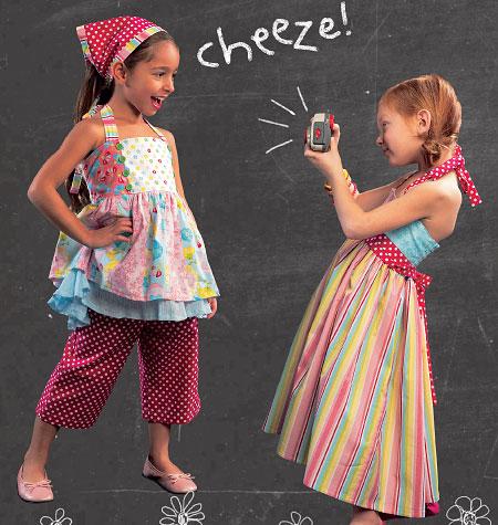 McCall's Children's/Girls' Top, Dress, Pants and Kerchief 6731
