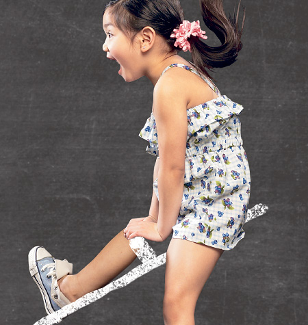 McCall's Children's/Girls' Dress, Rompers and Jumpsuit 6733