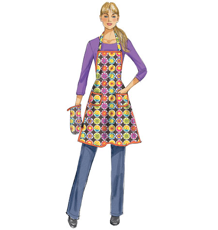 McCall's Misses' Aprons and Mitt 6776