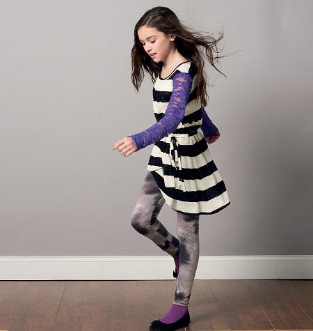 McCall's Girls'/Girls' Plus Dresses, Tunic, Belt and Leggings 6787
