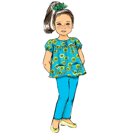 McCall's Children's/Girls' Top, Dress and Pants 6820