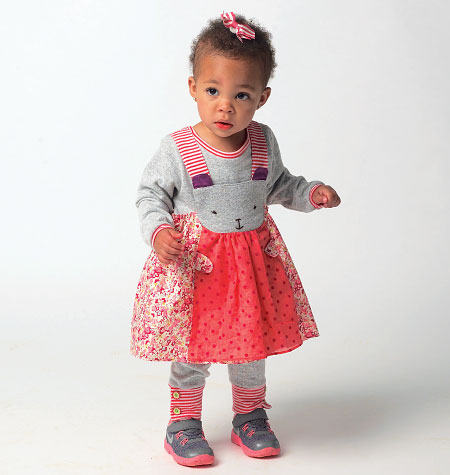 McCall's Infants' Top, Dress and Leggings 6824