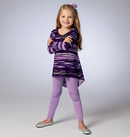 McCall's Children's/Girls' Tops and Leggings 6827