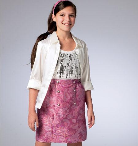 McCall's Children's/Girls' Skirts 6830