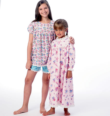 McCall's Children's/Girls' Tops, Gowns, Short and Pants 6831