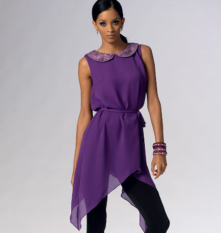 McCall's Misses' Top, Tunics and Belt 6846