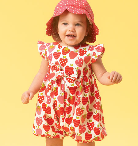 McCall's Infants' Romper, Tops, Dress, Bloomers, Panties, Pants and Hat 6872
