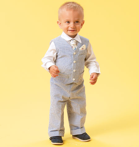McCall's Infants' Vest, Shirt, Shorts, Pants, Tie and Pocket Square 6873