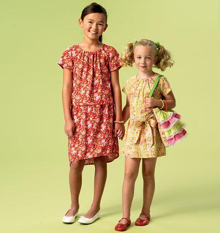 McCall's Children's/Girls' Tops, Dress, Belt, Skirts and Bag 6882