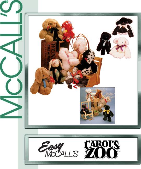 McCall's Carol's Zoo bear, rabbit, lamb 6907