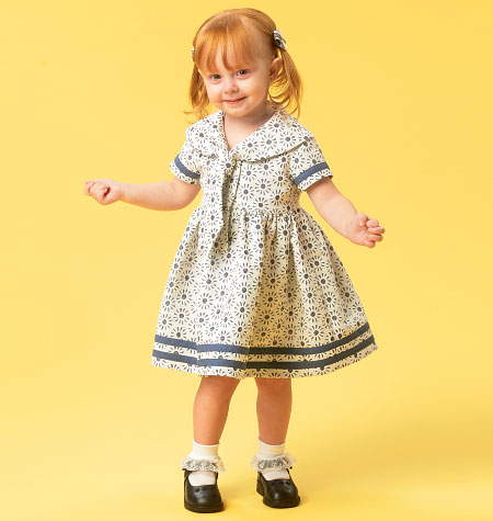 McCall's Toddlers' Dresses and Tie Ends 6913