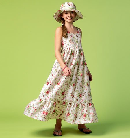 McCall's Girls'/Girls' Plus Dresses and Hat 6919
