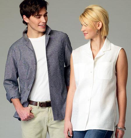 McCall's Misses'/Men's Shirts 6932
